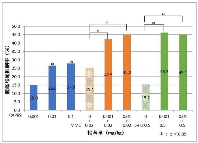 光合成細菌RAP99のMMC及び5-FUとの同時使用による抗腫瘍作用